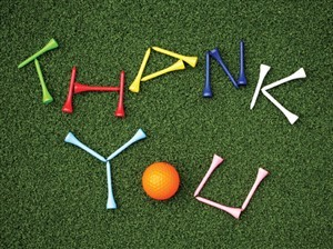 6440 Thank You Card - Golf tees & ball (Pack of 50)