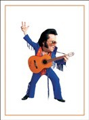 6424 Thank You Card - Elvis (Pack of 50)