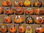 7316 Thanksgiving Card - Painted mini pumpkins (Pack of 50)